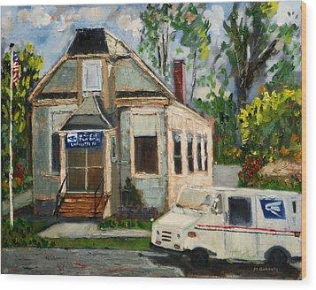 Post Office At Lafeyette Nj Wood Print by Michael Daniels