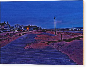 Post Sandy Effects Wood Print by Joe  Burns