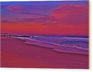 Post Sandy Pier Wood Print