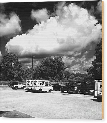 Postal Cloud Wood Print