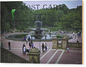 Postcard From Central Park Wood Print by Madeline Ellis