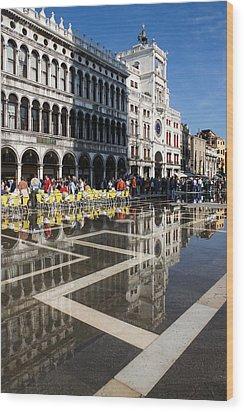Wood Print featuring the photograph Postcard From Venice by Georgia Mizuleva
