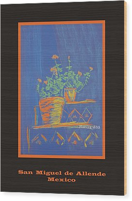 Poster - Blue Geranium Wood Print by Marcia Meade