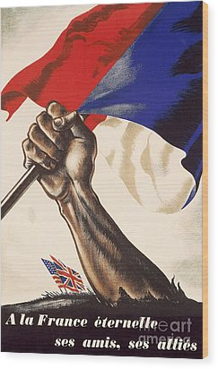 Poster For Liberation Of France From World War II 1944 Wood Print by Anonymous
