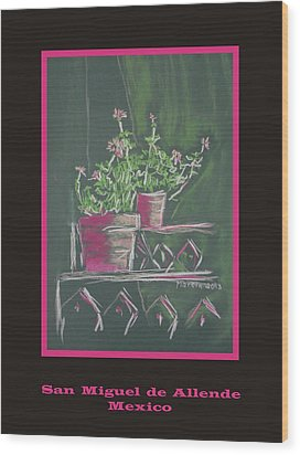 Poster - Green Geranium Wood Print by Marcia Meade