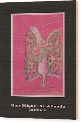 Poster - Light Pink Patio Wood Print by Marcia Meade