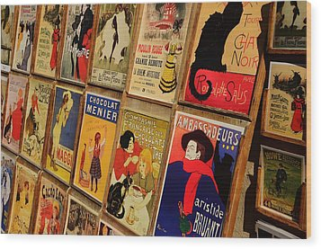 Posters In Paris Wood Print by Dany Lison