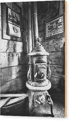 Pot Belly Stove Wood Print