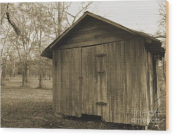 Potato Shed Wood Print by Russell Christie