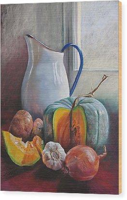 Potential Pumpkin Soup Wood Print by Lynda Robinson