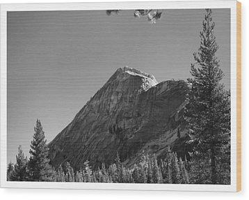 Pothole Dome In Yosemite Wood Print