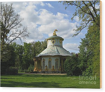 Potsdam The Chinese House Wood Print by Kiril Stanchev