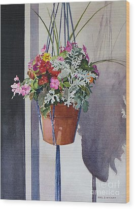 Potted Posies Wood Print by Karol Wyckoff