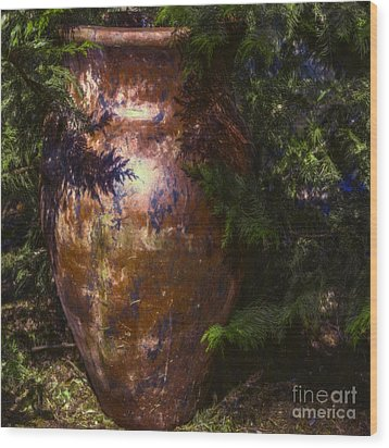 Wood Print featuring the photograph Potters Clay by Jean OKeeffe Macro Abundance Art