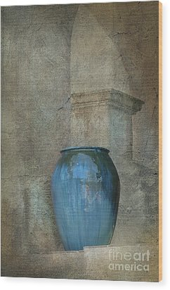 Pottery And Archways II Wood Print by Sandra Bronstein