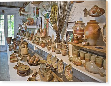 Pottery In La Borne Wood Print by Oleg Koryagin