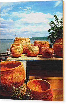 Pottery Market Diessen Wood Print by The Creative Minds Art and Photography