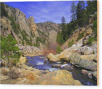 Poudre Canyon Wood Print by Bob Beardsley