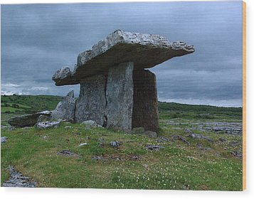 Wood Print featuring the photograph Poulnabrone Dolmen 1 by Ken Dietz