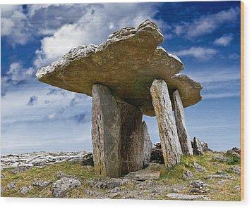 Poulnabrone Dolmen - Clare - Ireland Wood Print