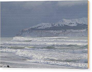 Pounding Waves Wood Print by Tim Grams