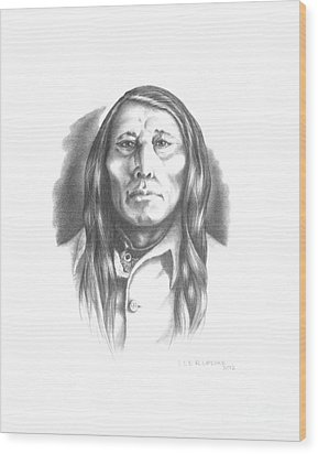 Poundmaker Wood Print by Lee Updike