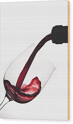 Pouring A Drink Wood Print by Andrew Soundarajan