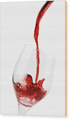 Pouring Red Wine Wood Print by Chevy Fleet