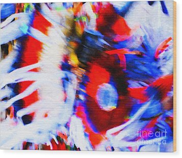 Wood Print featuring the photograph Pow Wow Abstract by Susan Parish
