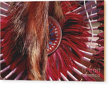 Pow-wow Costume Wood Print by Paul W Faust -  Impressions of Light