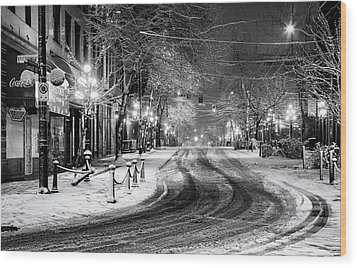 Powell And Carrall Street In Gastown Wood Print by Alexis Birkill