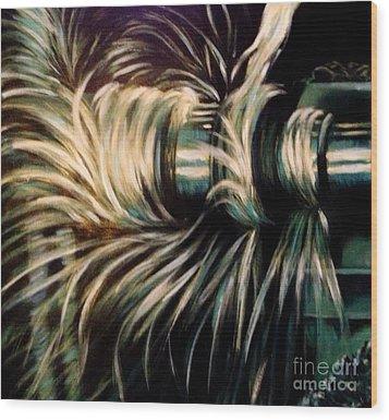 Power Wood Print by Karen  Ferrand Carroll