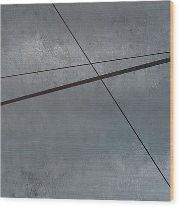 Power Lines  05 Wood Print by Ronda Stephens