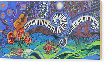 Power Of Music II  Wood Print by Genevieve Esson