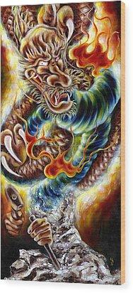 Power Of Spirit Wood Print by Hiroko Sakai