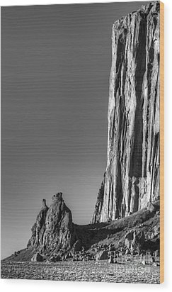 Power Of Stone Wood Print by Bob Christopher