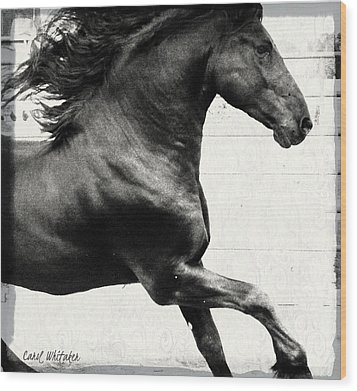 Power Of Stride Wood Print by Royal Grove Fine Art
