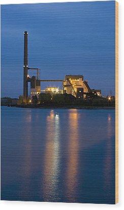 Power Plant Wood Print by Adam Romanowicz