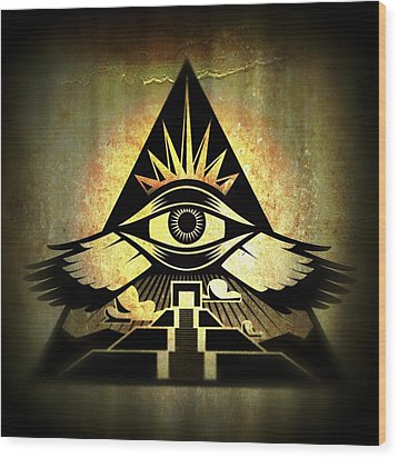 Power Pyramid Wood Print by Milton Thompson
