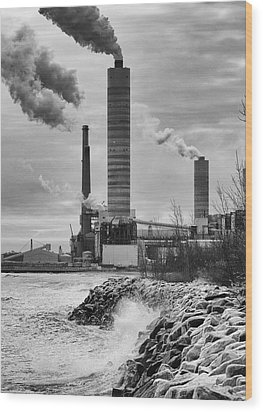 Wood Print featuring the photograph Power Station by Ricky L Jones