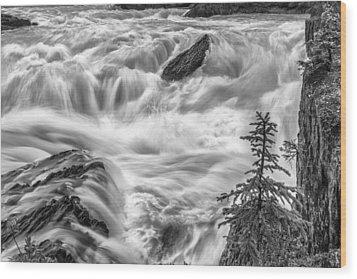 Power Stream Wood Print by Jon Glaser