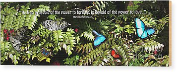 Power To Love Wood Print by Diane E Berry