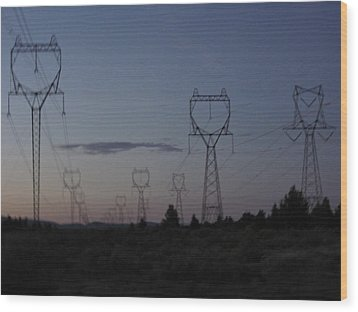 Power Towers Wood Print