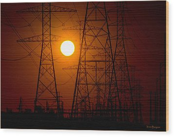 Wood Print featuring the photograph Power by Travis Burgess