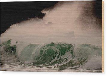 Power Wave Wood Print by Barbara Walsh