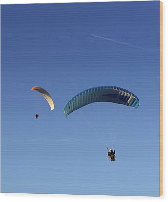 Powered Parachute Wood Print by John Swartz