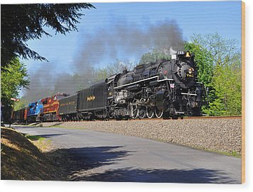 Powerful Nickel Plate Berkshire Wood Print