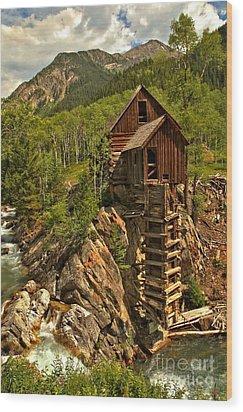 Powering Down Wood Print by Adam Jewell