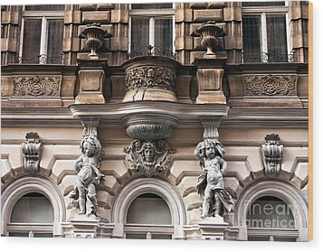 Prague Architecture Wood Print by John Rizzuto
