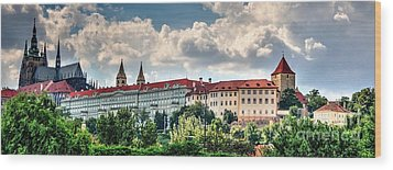 Wood Print featuring the photograph Prague Castle by Joe  Ng